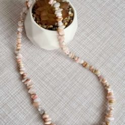 A beautiful pink opal necklace 1