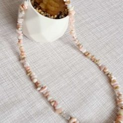 A beautiful pink opal necklace 3