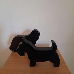 Dog silhouette ornaments