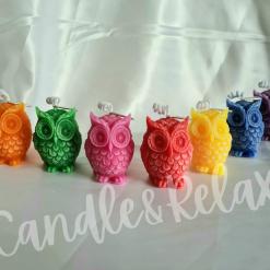 Charmed Rainbow Owl Candles