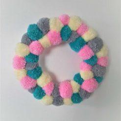 Handcrafted Pom Pom Wreath