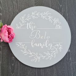 Personalised Family wall plaque