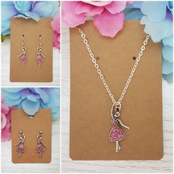 -Individually Priced- Dancing Lady Necklace, Earrings, Jewellery | Tibetan Silver Charm Birthday Christmas Mothers Mother's Day Valentine Anniversary Easter Ballerina Gifts Ballet Dancer Gift Set Ideas | Charming Gifts