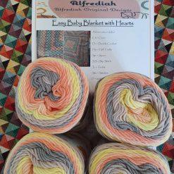 Easy to Crochet Heart Baby Blanket Kit