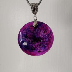 Galaxy Swirl Round Necklace