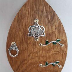 Fairy Door Wooden Elfin Knot Garden Tree Home Hand Made Cornish Oak
