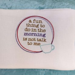 Embroidered tea towel Fun Thing to Do from Sand Bags, St Ives by Naomi