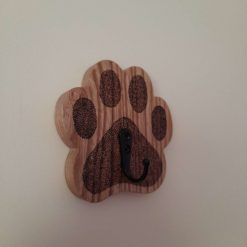 Dog paw wooden lead holder
