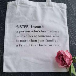 Sister tote bag