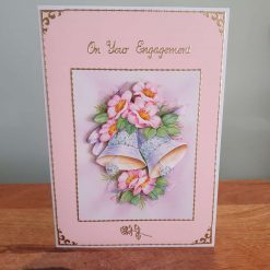 Engagement Decoupage Greetings Card