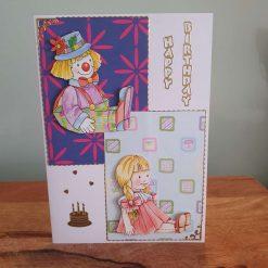 Children's Decoupage Birthday Card
