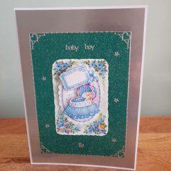 Baby Boy Decoupage Greetings Card