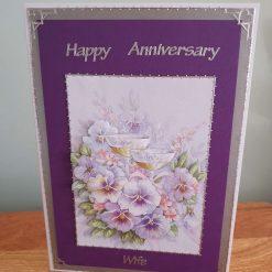 Anniversary Decoupage Greetings Card