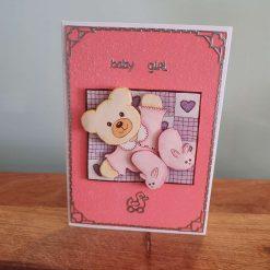 Baby Girl Decoupage Greetings Card