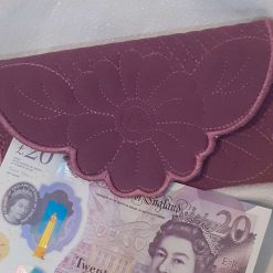 Faux leather Sunflower Card Holder