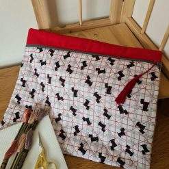 Zippered Project Pouch / Bag - Dogs