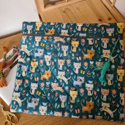 Zippered Project Pouch / Bag - Cats