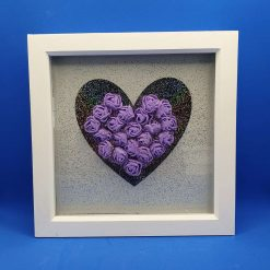 Box frame picture. Heart