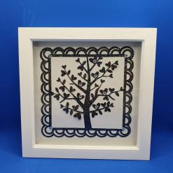 White box frame picture. Jewelled Tree