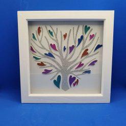 Box frame picture, Rainbow Tree