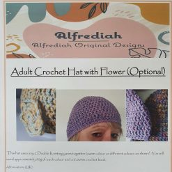 Crochet Hat with Optional Flower