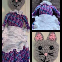 Crochet Cat Carrier Bag Holder
