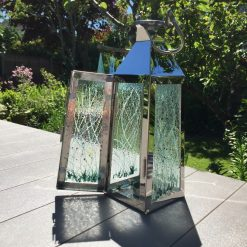 Fused Glass Floral Lantern