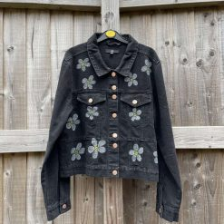 Daisy black denim jacket Size UK 14
