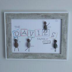 Family Pebble Art Frame