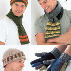 King Cole - Knitting Pattern - Men's Hats, Scarves & Gloves