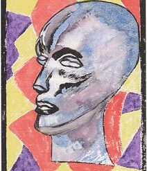 DO ALIENS CRY – A4 ABSTRACT PRINT ON WATERCOLOUR PAPER (UNFRAMED) + POEM – ORIGINAL ART DIRECT
