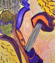 THE QUANTUM FIELD – FRAMED ORIGINAL + POEM. ORIGINAL ART DIRECT.