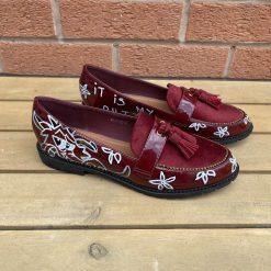 Red Disney Mulan Loafers Size UK 5