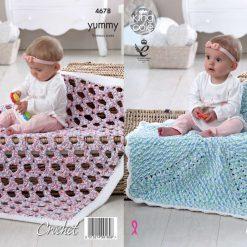 King Cole - Crochet Pattern - Blankets