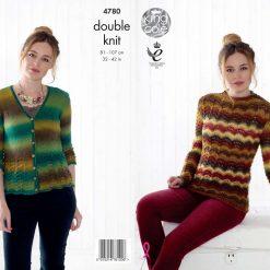 King Cole - Knitting Pattern - Riot Sweater & Cardigan