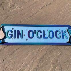 Bar sign - Gin O'Clock - Personalised