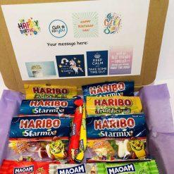 Haribo / sweet gift box / child gift / dads birthday gift / mums birthday gift/sweet box