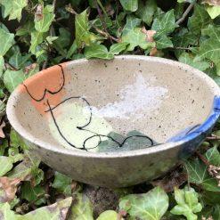 Heart design cereal bowl