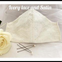 Ivory lace Bridal Mask