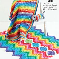 King Cole - Crochet Pattern - Rainbow Blankets & Toy