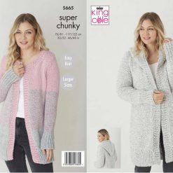 King Cole - Knitting Pattern - Super Chunky Jackets