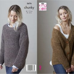 King Cole - Knitting Pattern - Chunky Cardigan & Sweater