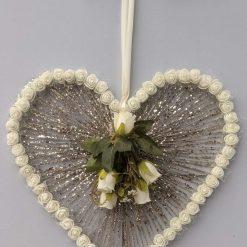 Glitter Heart Hanging Decoration