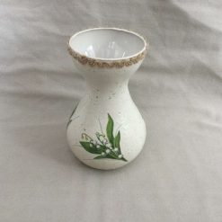 Lilly of the Valley Vase. Housewarming Gift. White Flower Home Decor.