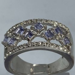 Iolite & Topaz Sterling Silver Ring
