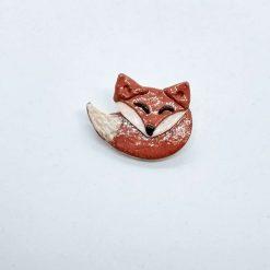 Ooak handmade polymer clay sleeping fox brooch