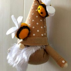 Hanging gnome/gonk with bees beige 2