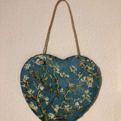 Almond Blossom slate heart