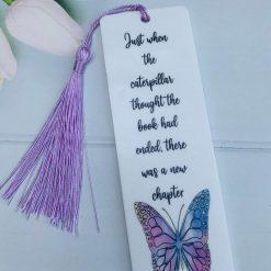 Handmade bookmark (just when the caterpillar)