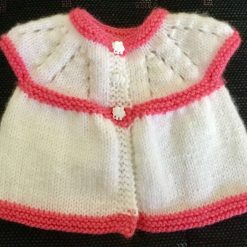 Hand Knitted Baby Top - 0-3 months